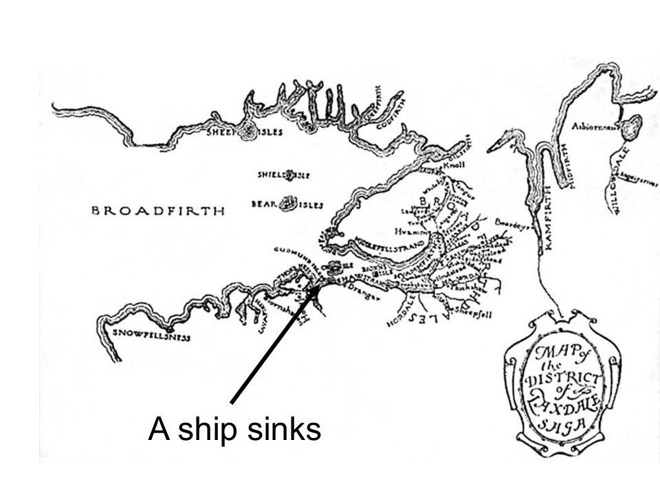 A ship sinks