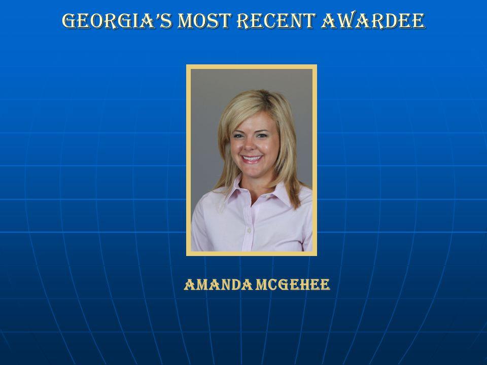 Georgia's Most recent Awardee Amanda McGehee