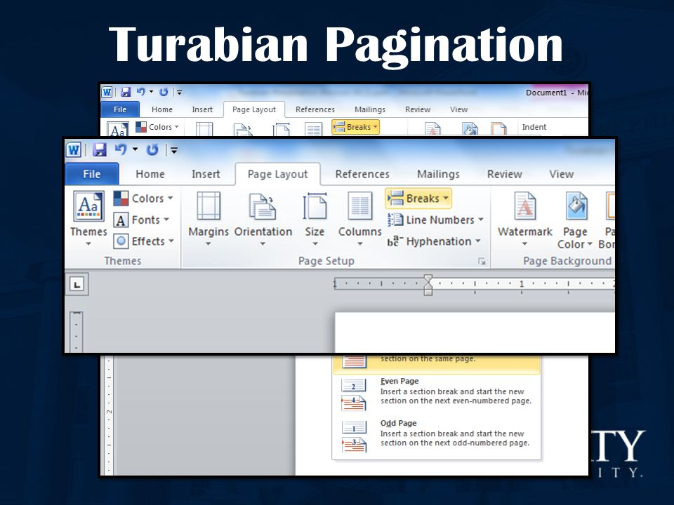 Turabian Pagination