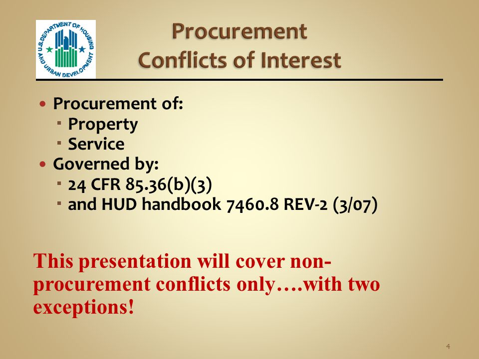 Procurement Non-procurement 3 Two Types