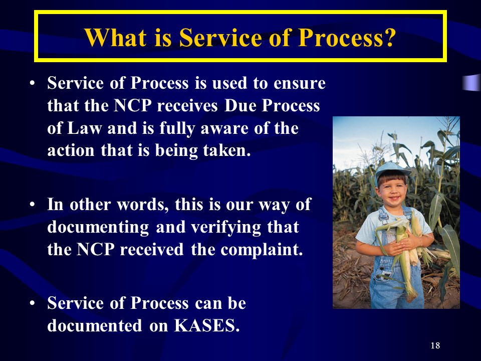 18 What is Service of Process.