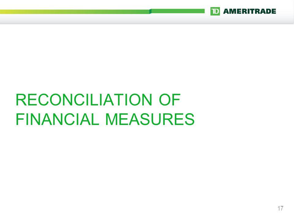17 RECONCILIATION OF FINANCIAL MEASURES