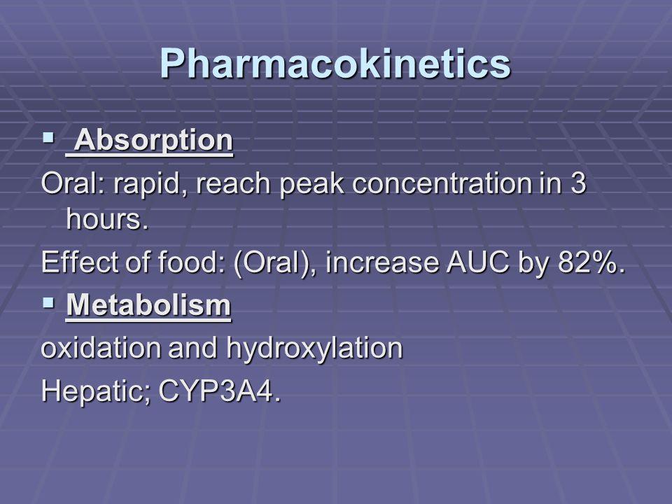 Pharmacokinetics  Excretion Fecal: 93%.Fecal: 93%.