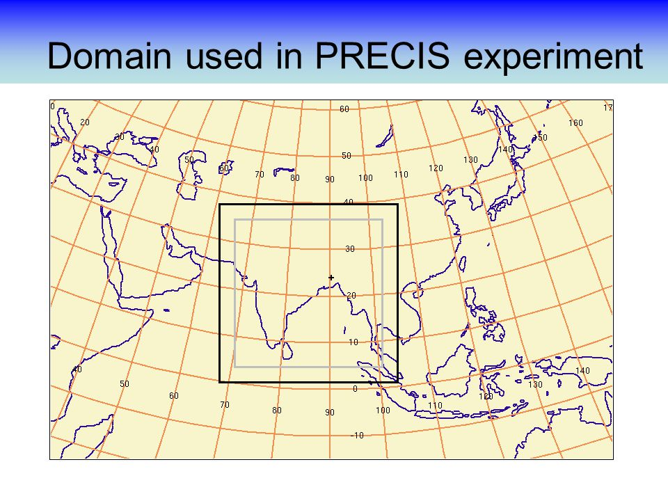 Domain used in PRECIS experiment