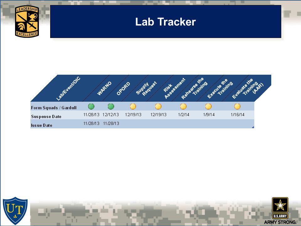 Lab Tracker