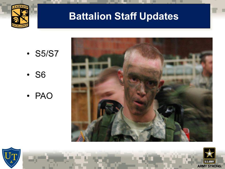 Battalion Staff Updates S5/S7 S6 PAO