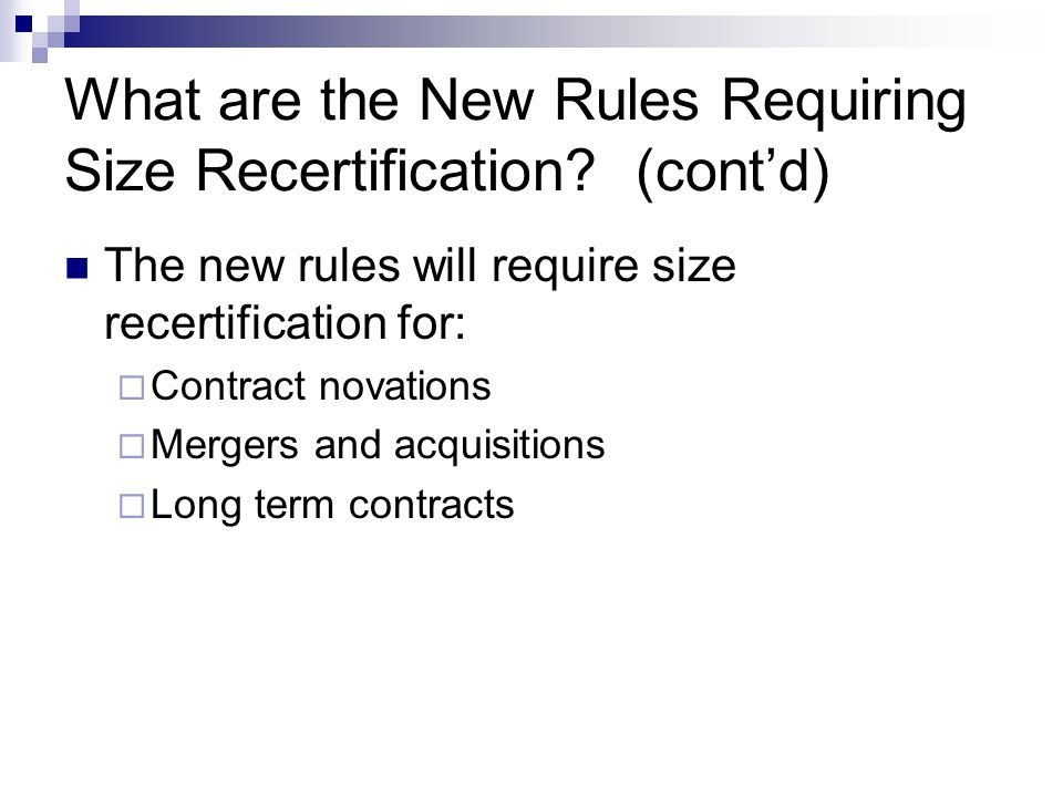 How will the New Rules Affect Novated Contracts.