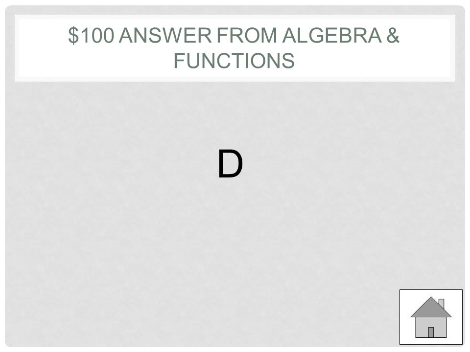 $100 QUESTION FROM ALGEBRA & FUNCTIONS If x + 1 = 23, what is the value of 3x + 3? a)22 b)46 c)66 d)69 e)72