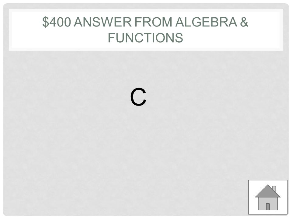 $400 QUESTION FROM ALGEBRA & FUNCTIONS Let m and n be positive integers such that one- third of m is n less than one-half of m.