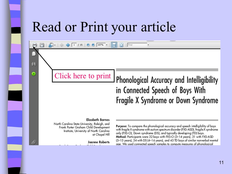 11 Read or Print your article Click here to print