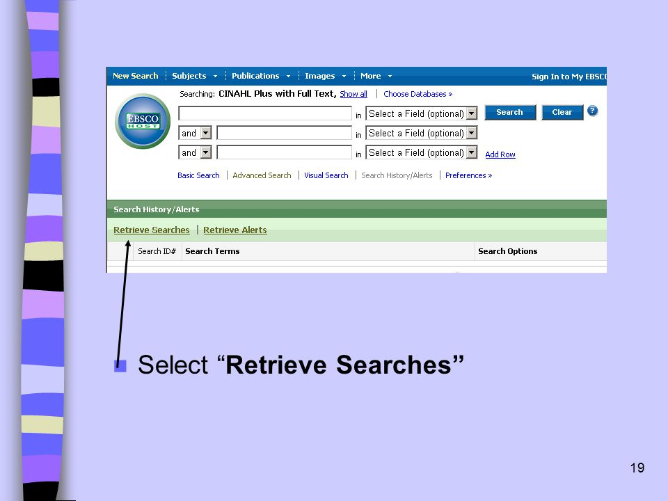 19 Select Retrieve Searches