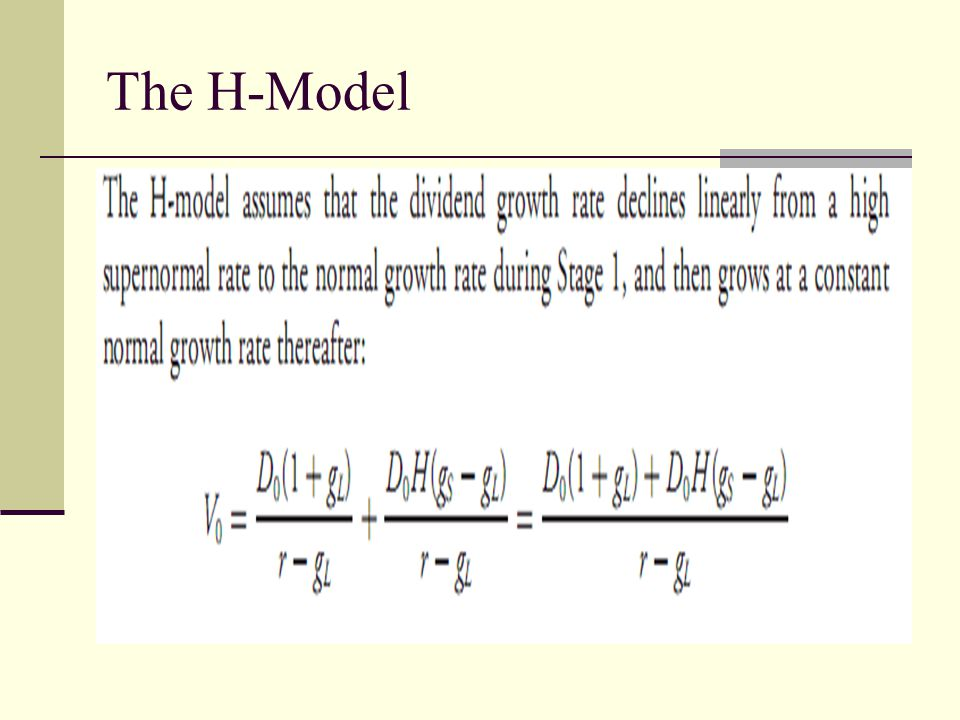 The H-Model