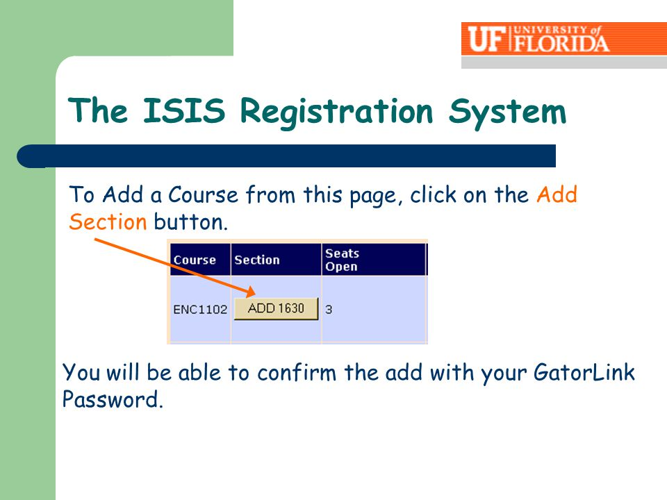 To Add a Course from this page, click on the Add Section button.