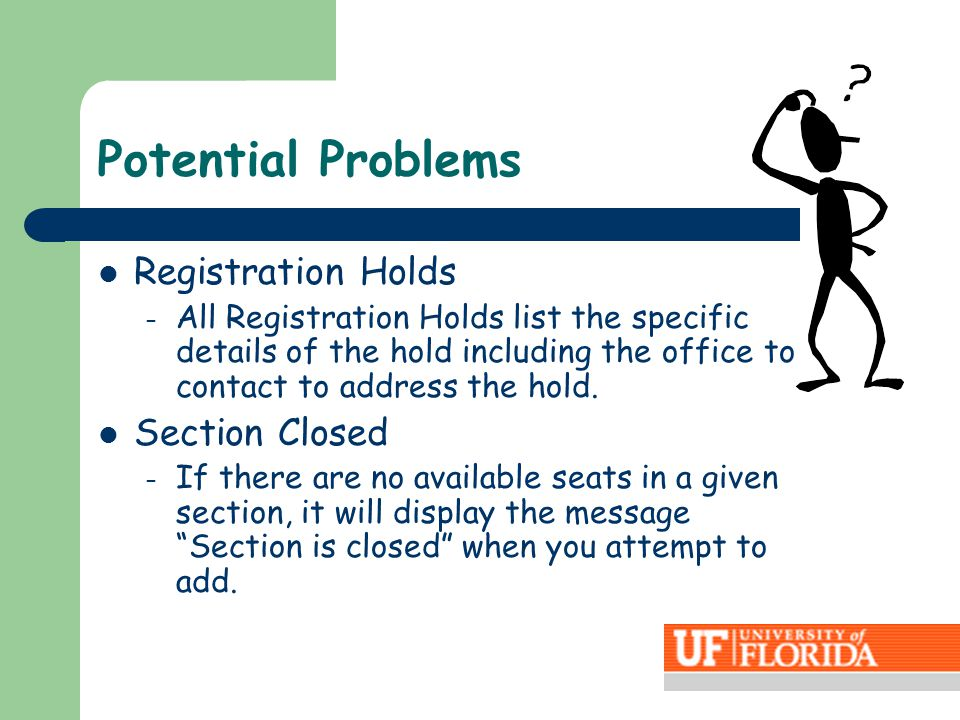 Registration Holds – All Registration Holds list the specific details of the hold including the office to contact to address the hold.