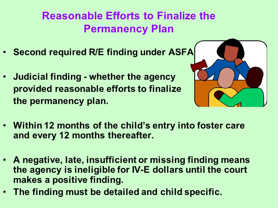 Second required R/E finding under ASFA.
