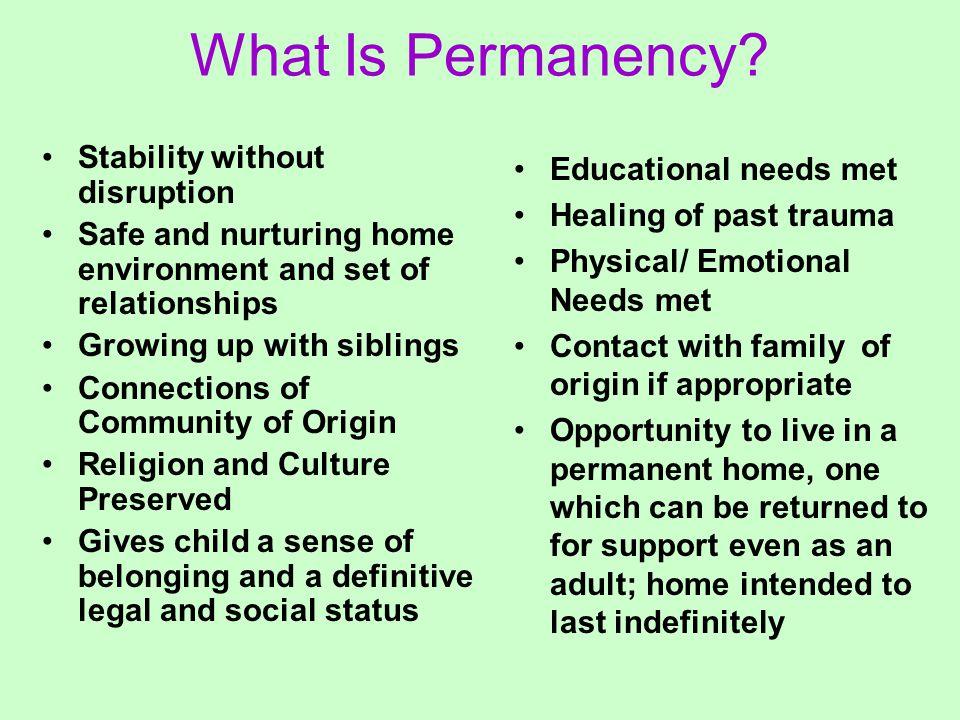 What Is Permanency.