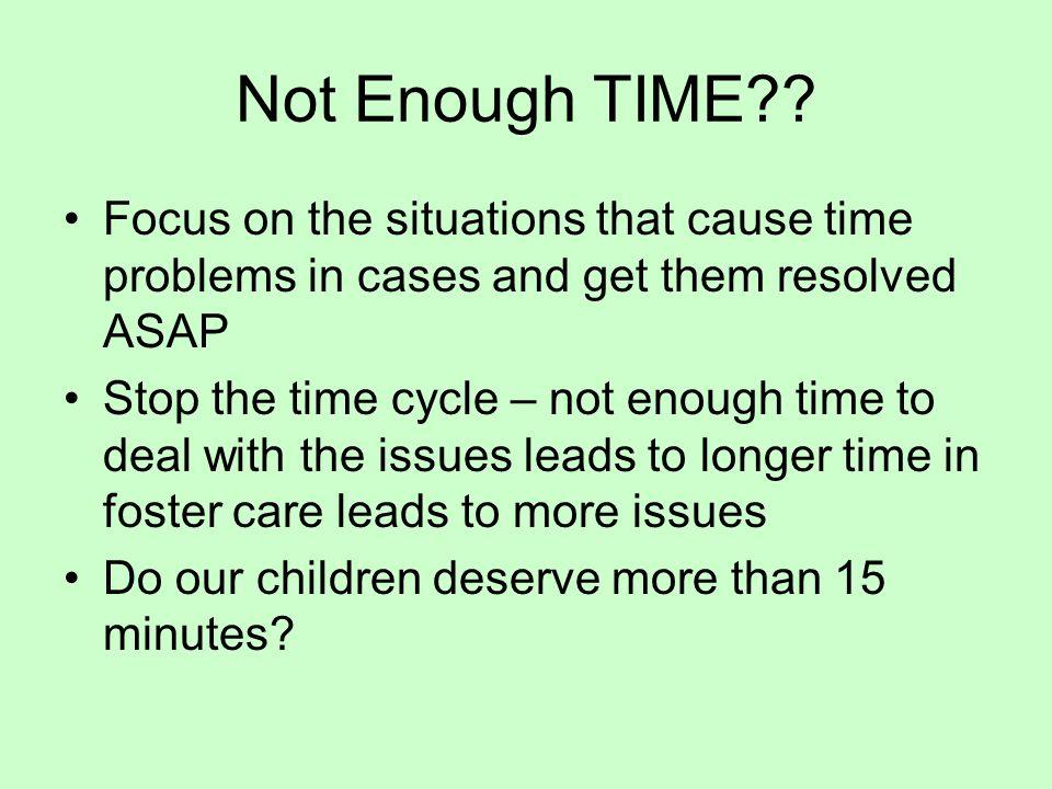 Not Enough TIME .