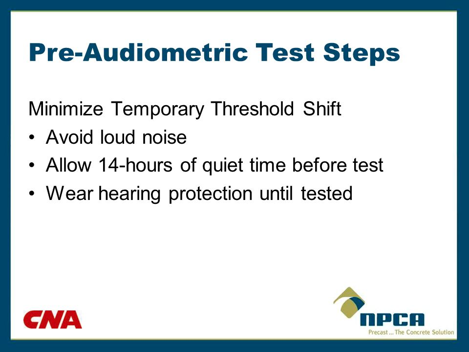 Audiometric Instructions Provide instructions on how to listen and react to the test sounds.