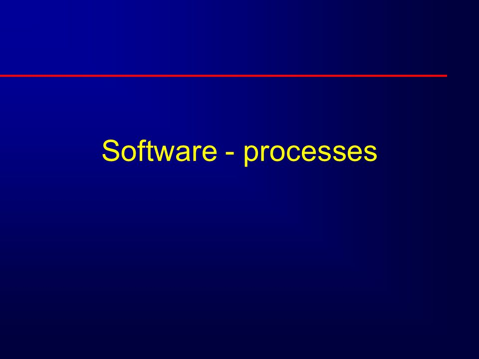 Software - processes