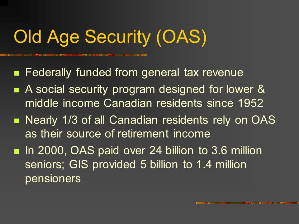 Sources of Retirement Income 1.