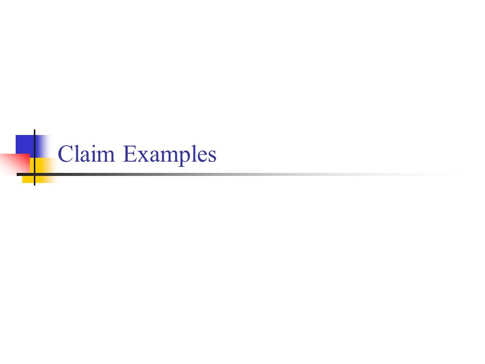 Claim Examples