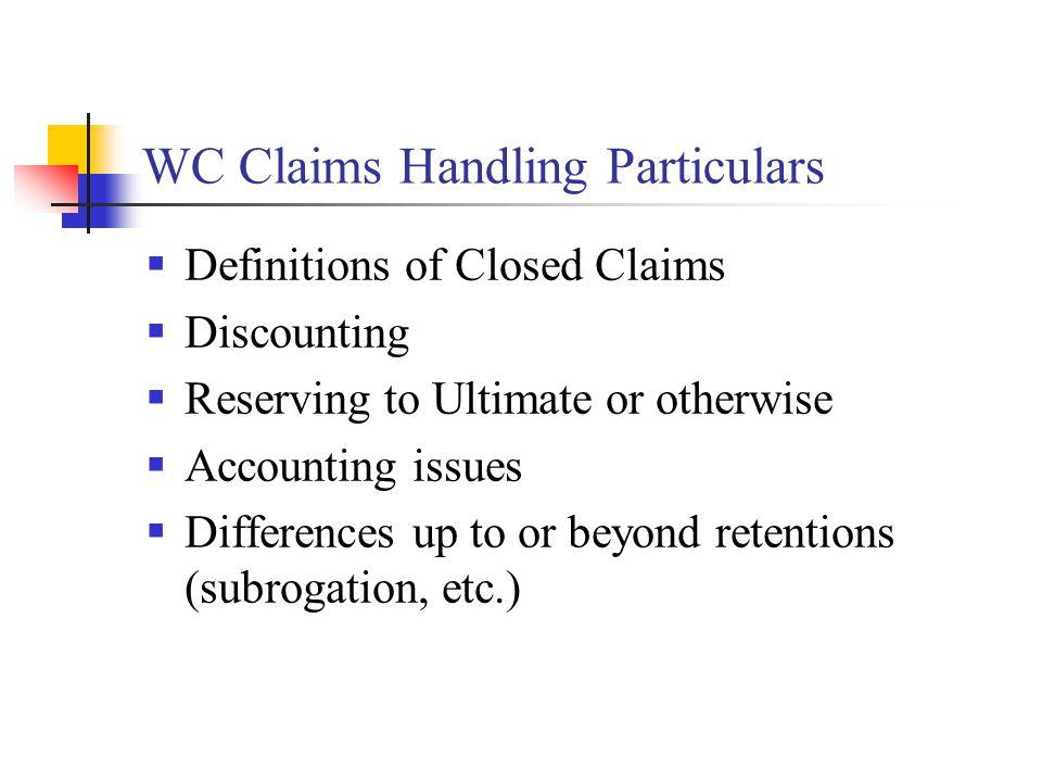 Settlement Value Case Reserves  A unique ABC practice.