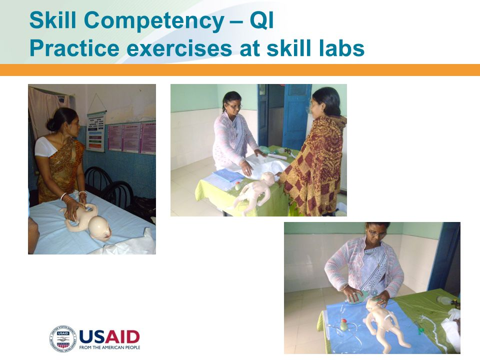 Skill Competency – QI Practice exercises at skill labs