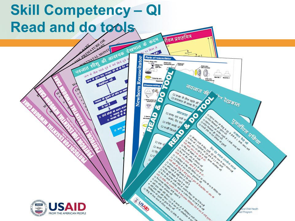 Skill Competency – QI Read and do tools