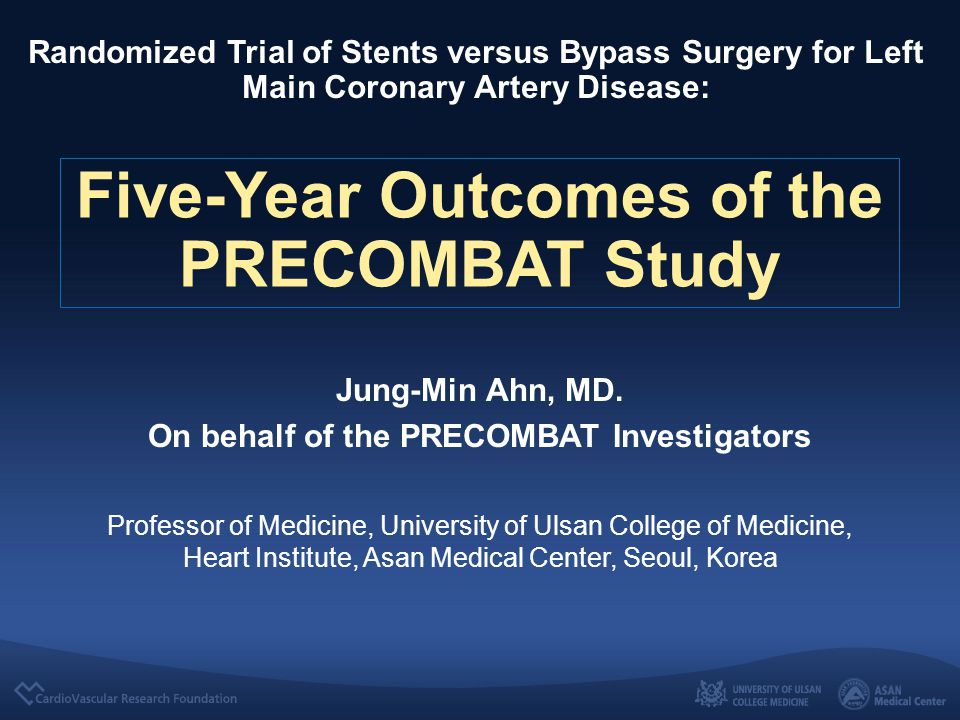 Introduction Recent guidelines considered PCI to be a potential alternative to CABG for ULMCA stenosis, based on several large registries and randomized trials.