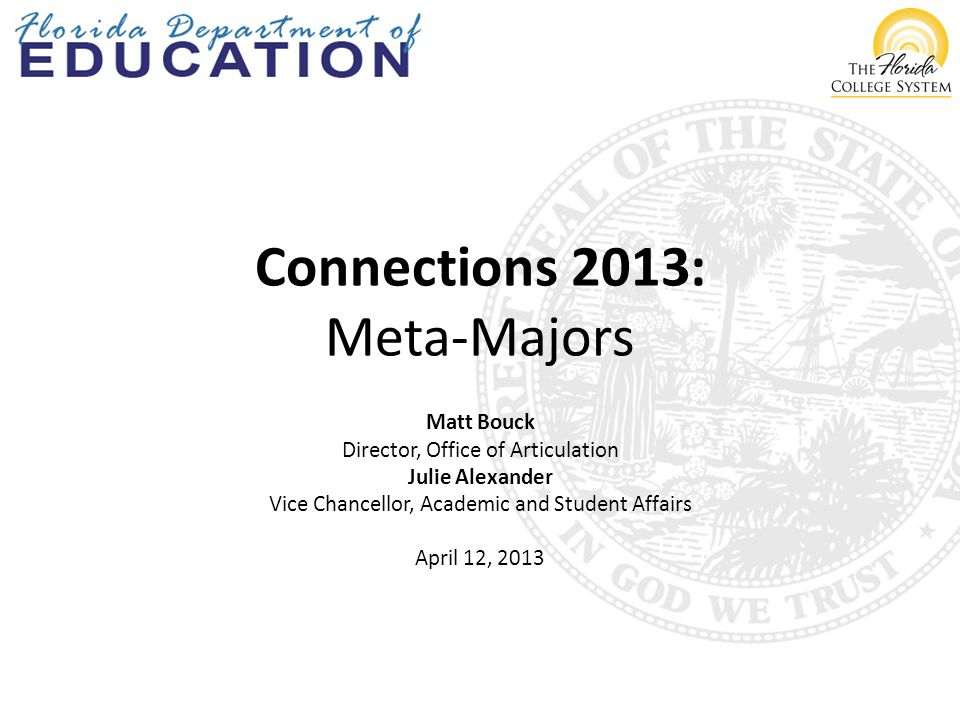 Session Overview  General education core course options implementation update  Core Principles for Transforming Remedial Education: A Joint Statement  House Bill 7057/Senate Bill 1720 overview and status  Terminology  Meta-Major