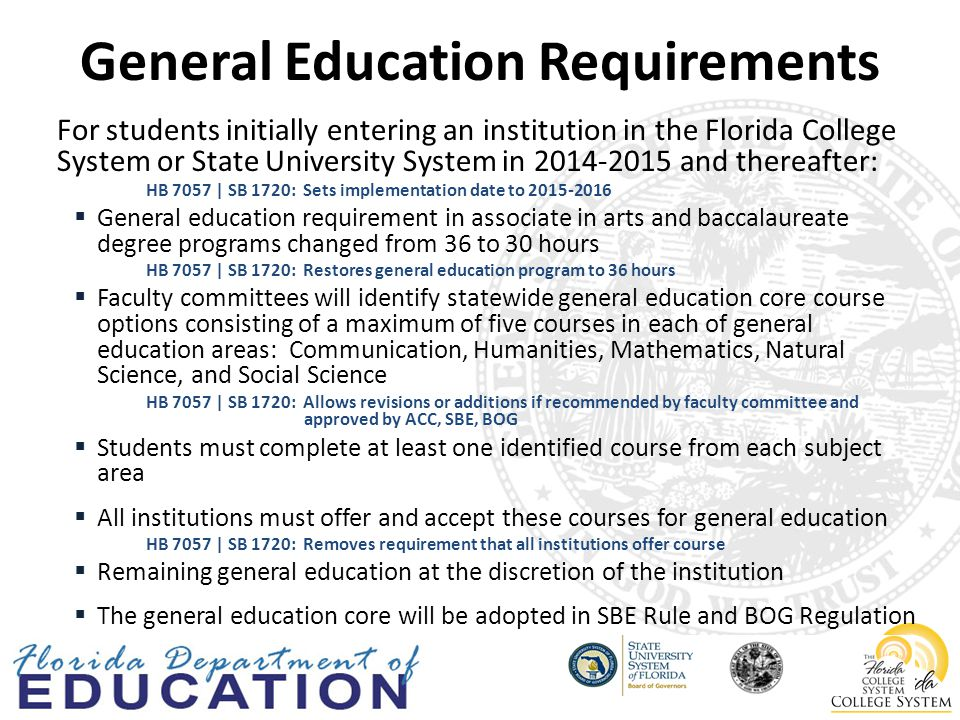 Mathematics Pathway - Traditional Gordon Rule Requirements, Rule 6A-10.030 Six (6) semester hours of mathematics coursework at the level of college algebra or higher.