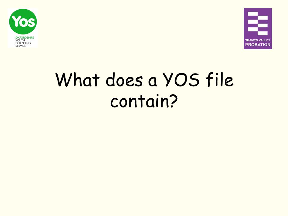 What does a YOS file contain?