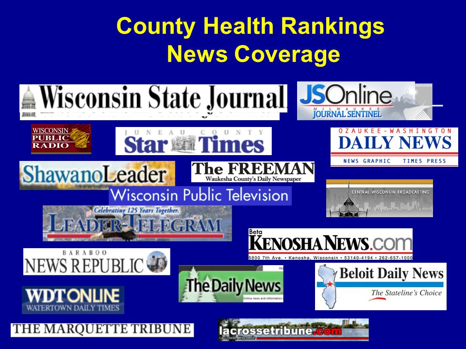 County Health Rankings News Coverage