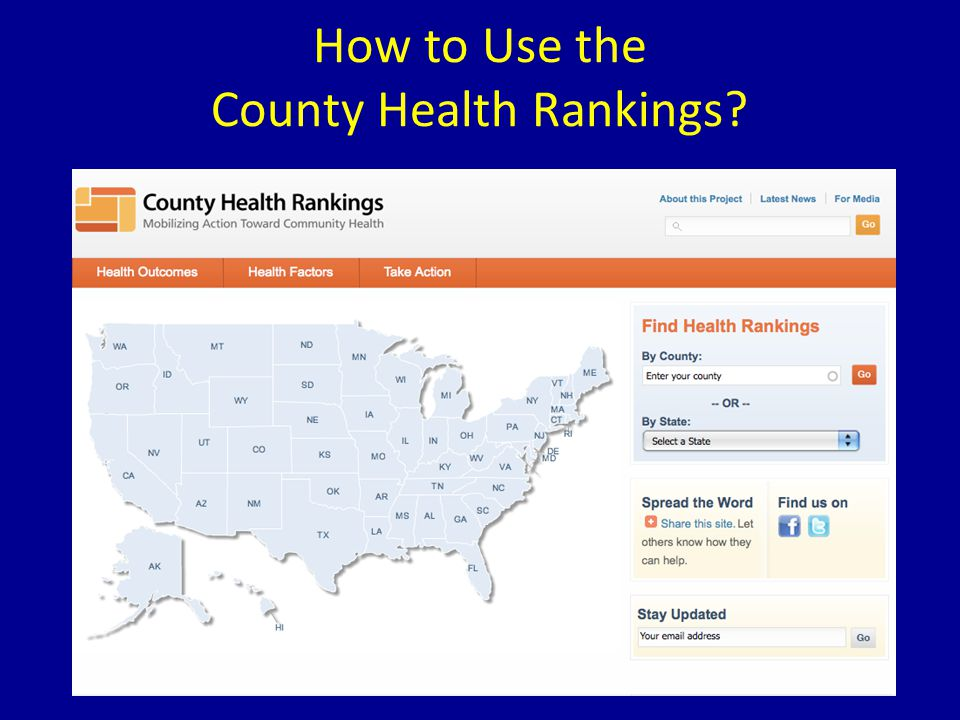How to Use the County Health Rankings