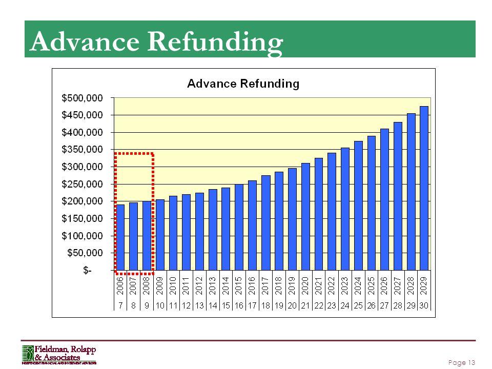 Page 13 Advance Refunding