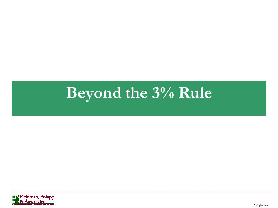 Page 22 Beyond the 3% Rule