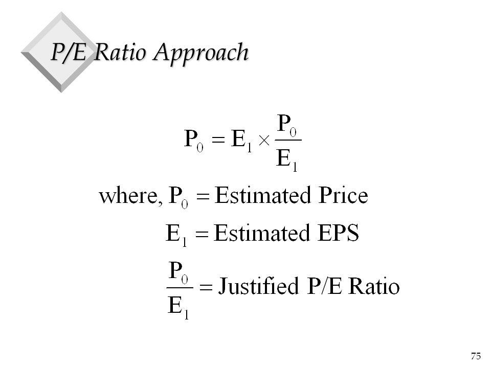 75 P/E Ratio Approach