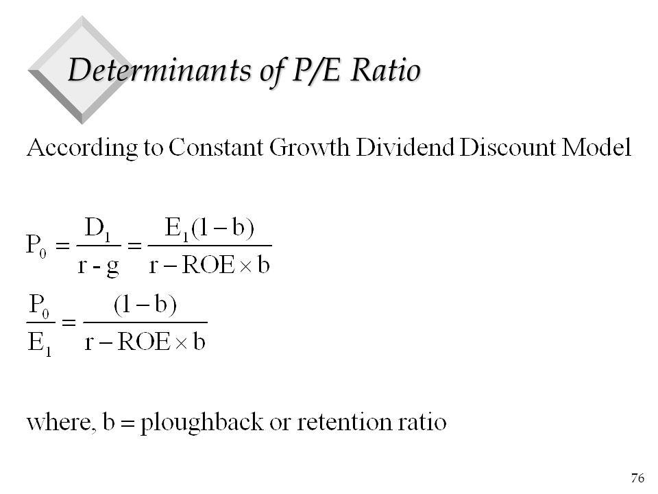 76 Determinants of P/E Ratio