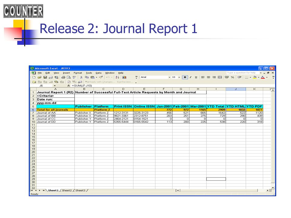 Release 2: Journal Report 1