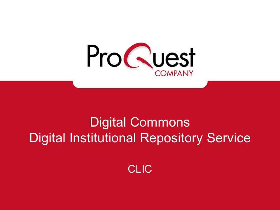 Examples of Journals Designed and implemented by ProQuest using your specifications