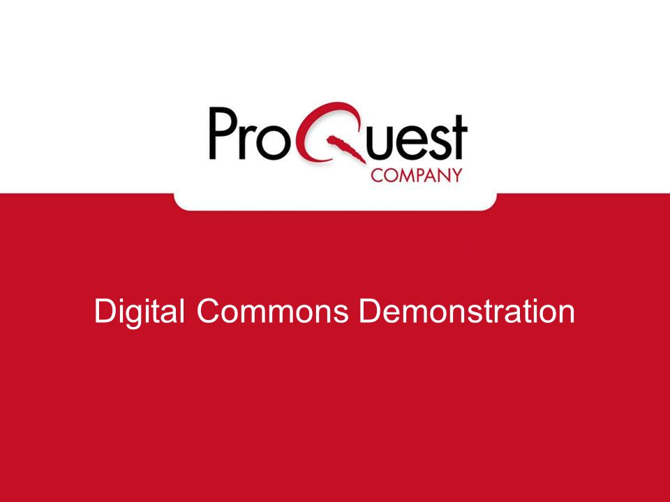 Digital Commons Demonstration
