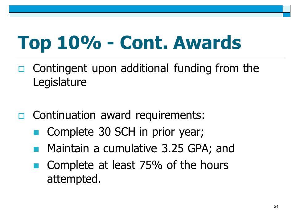 Top 10% - Cont.