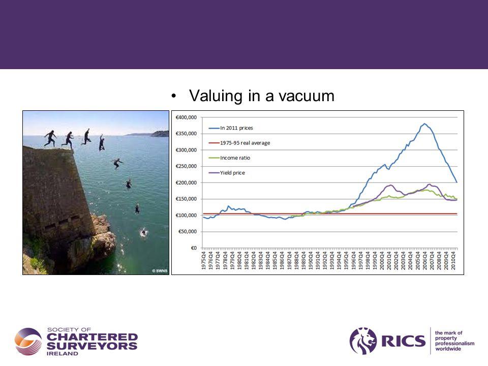 Valuing in a vacuum