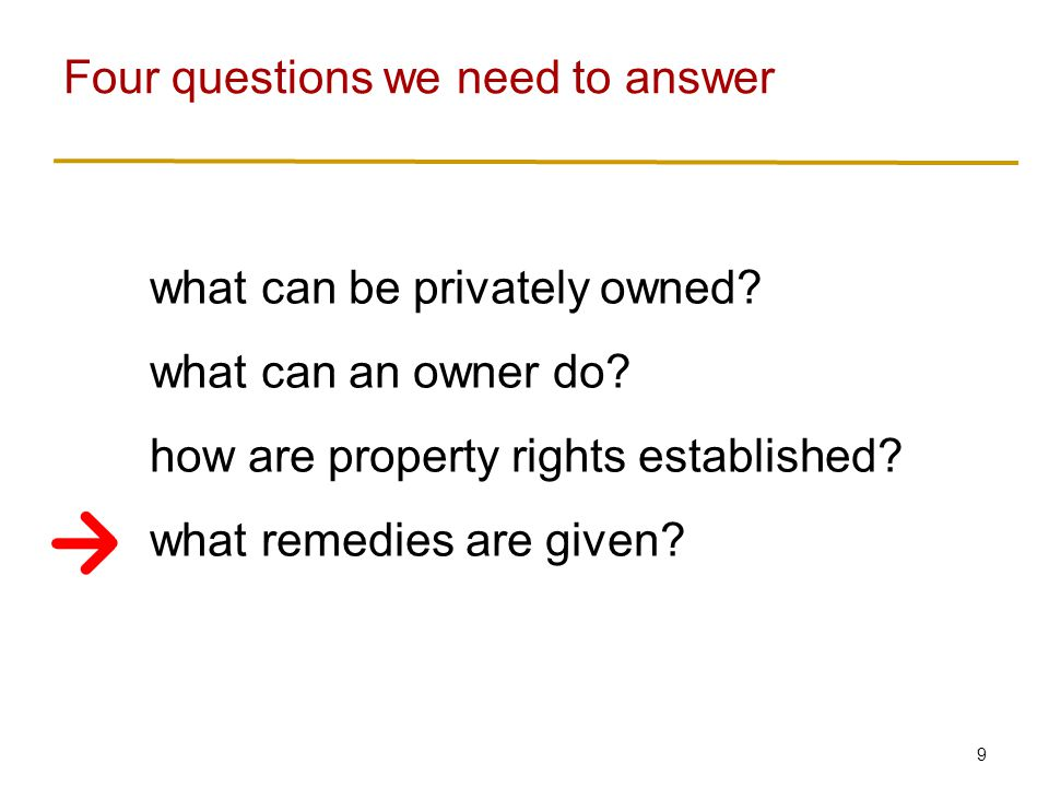9 what can be privately owned. what can an owner do.