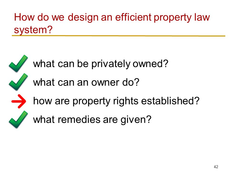 42 what can be privately owned. what can an owner do.