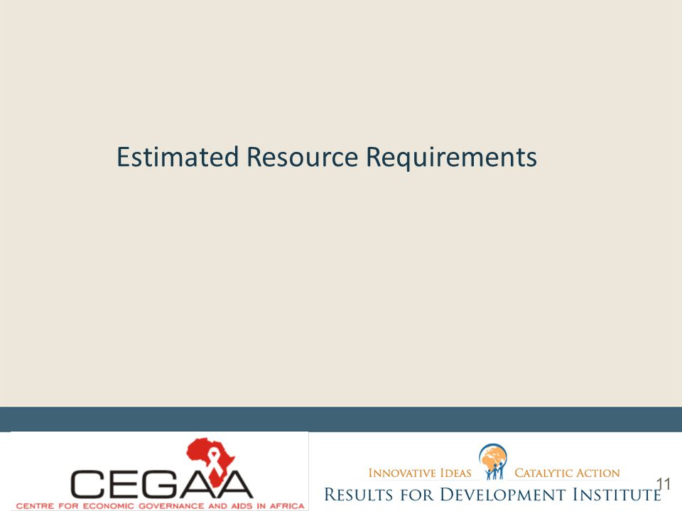 Estimated Resource Requirements 11