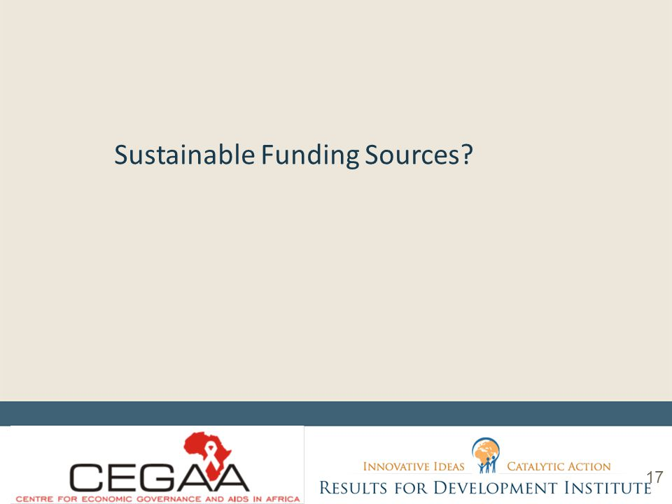 Sustainable Funding Sources 17