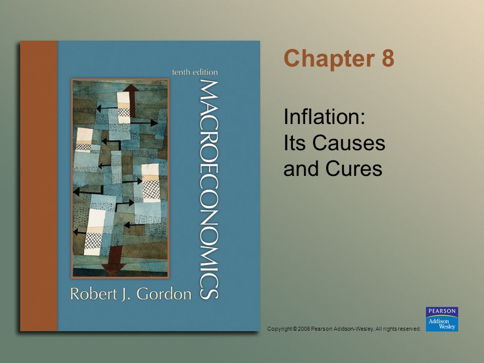 Copyright © 2006 Pearson Addison-Wesley. All rights reserved. Chapter 8 Inflation: Its Causes and Cures