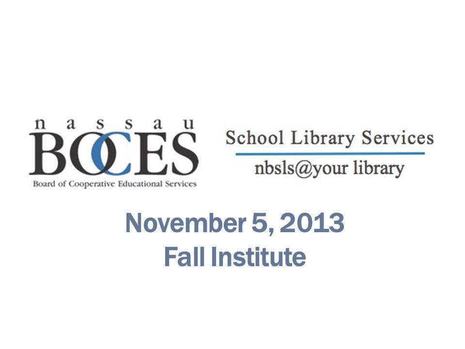 November 5, 2013 Fall Institute