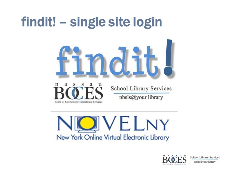 findit! – single site login
